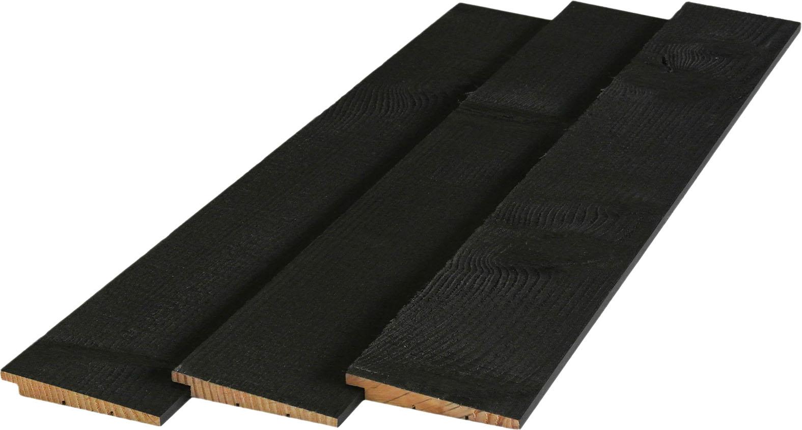 3. Potdekselplank 2x zwart gespoten 10 20x145x3000 4000mm