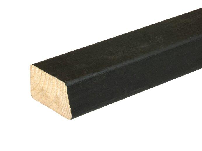 Gevelbekleding lat Vuren 32x50mm geschaafd aan 28x45mm 2x rondom zwart gespoten