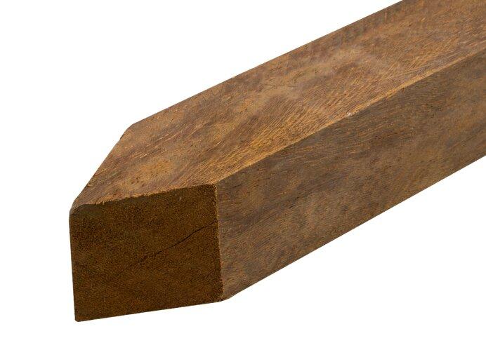 Palen hardhout 40x40 mm bezaagd Houtsoort Azobe