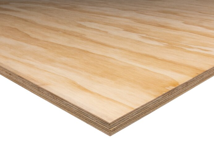 Underlayment 244x122cm Radiata Pine BC Rechte kant