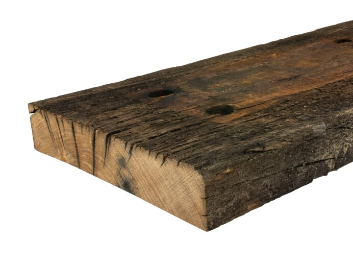 Barn Wood Wagonplank Old Oak 50x250mm achter close
