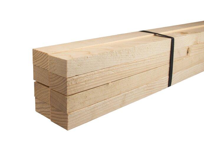 Vurenhout regels 32x50mm geschaafd aan 28x45mm pak