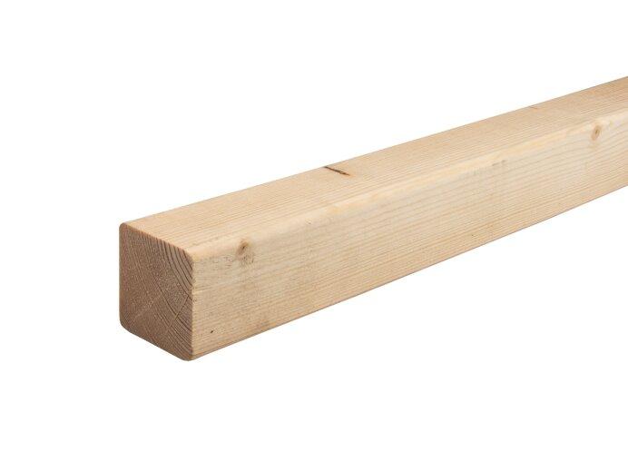 Vurenhout regels 50x50mm geschaafd aan 45x45mm