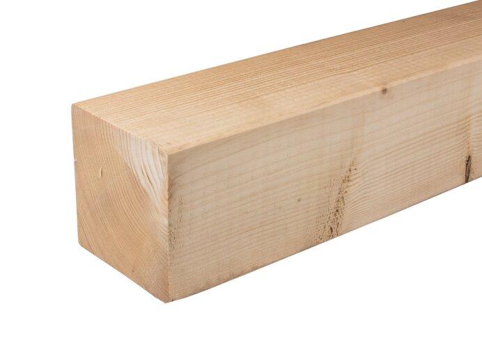 Vurenhout palen 100x100mm geschaafd aan 95x95mm close