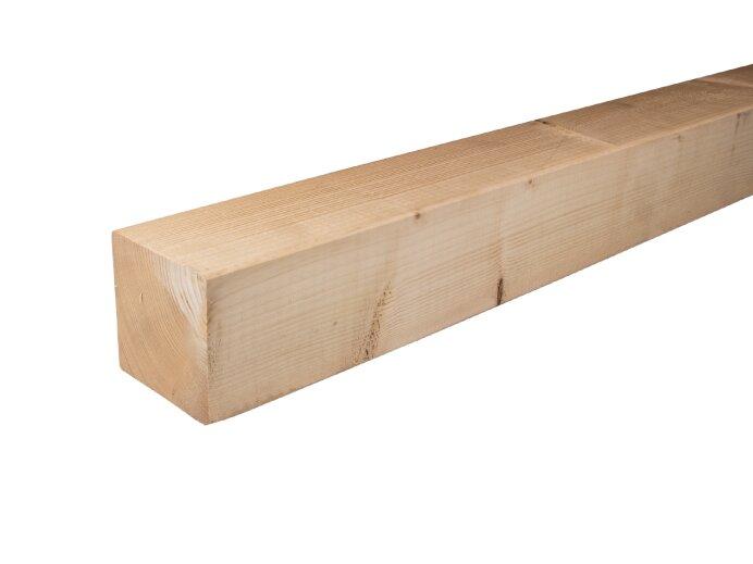 Vurenhout palen 100x100mm geschaafd aan 95x95mm