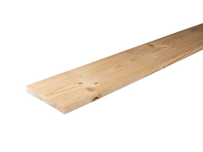 Planken Vurenhout 22x150mm geschaafd aan 18x145mm