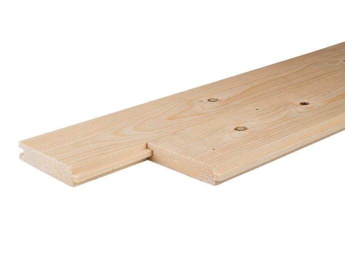 Vloerdelen Vurenhout 22x100 Mes en Groef geschaafd aan werkende maat 18x90mm