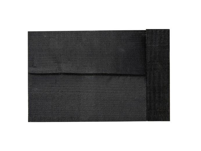 Hoekoplossing Douglas hout zwart 50x50mm (werkende maat 48x48mm)