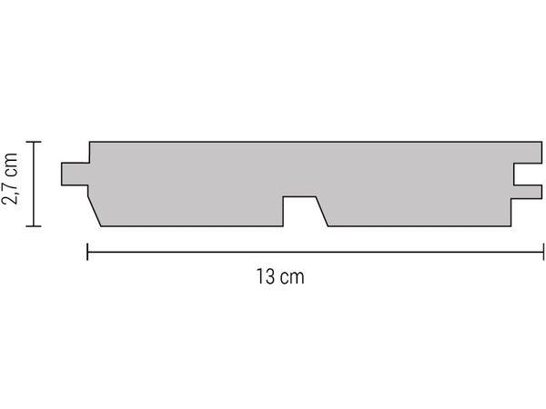 Accoya Dubbel Rhomusmodel 27x145mm