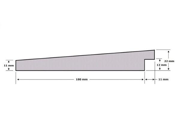 Accoya Zweedsrabat Fijnbezaagd 11 22x195mm